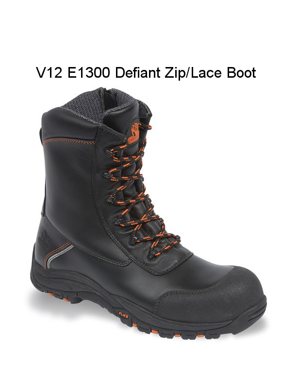 ANTI STATIC V12 ENDURA SAFETY BOOTS LIGHTWEIGHT HEAT RESISTANT HEEL SUPPORT
